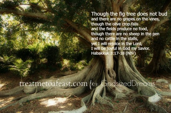 """""""You know what I learned about fig trees? The roots are tenacious, even invasive. They do not give up. There's a testimony there."""""""