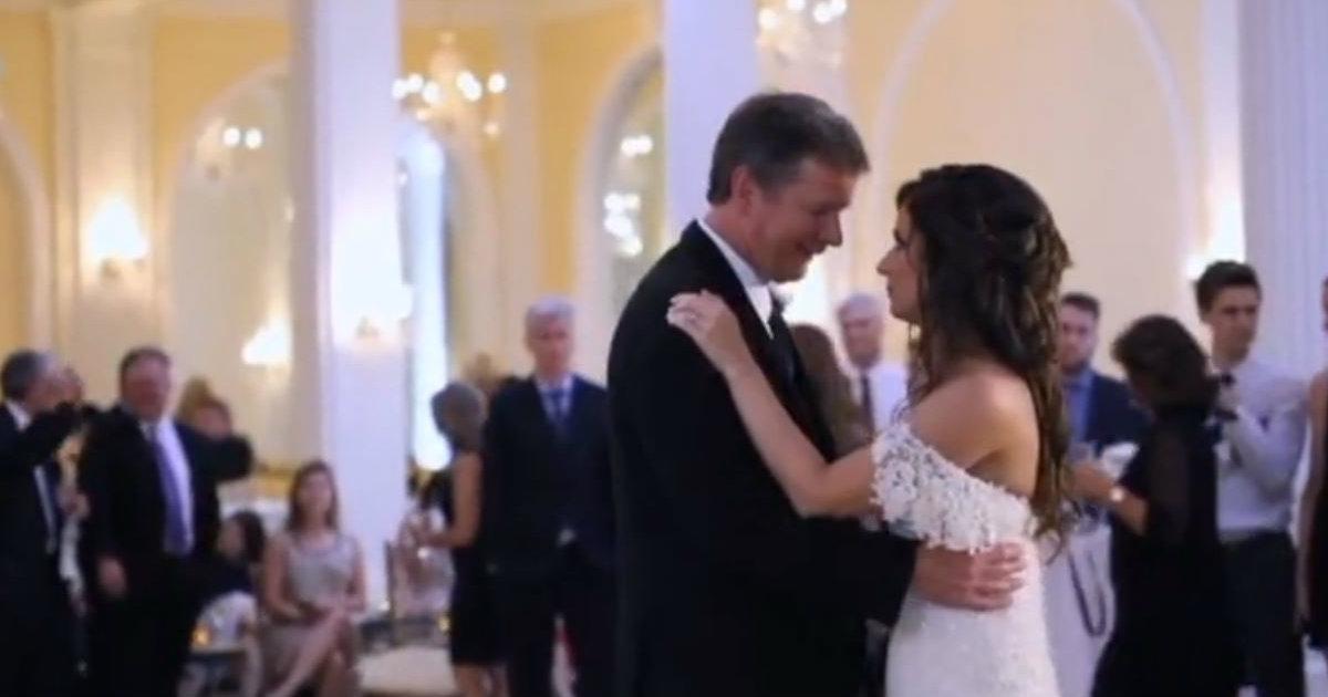 bride surprises dad during