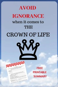 AVOID IGNORANCE WHEN IT COMES TO THE CROWN OF LIFE. What is the crown of life promised to the Overcomer? And, and why should you care? What does it take to receive this award after death? Is it only for the martyr? #CrownReward, #CrownOfLife, #overcome, #overcomer, #martyr, #martyrdom, #ExperienceLife, #Endtimes, #GodWhoAreYou, #WhoAmI