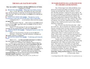 BEAR FACTS OF FAITH LAMINATE
