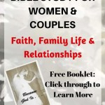 White Flower Background with text overlay: Free OnLine Bible Study for Women and Couples, Faith, Family life and Relationships