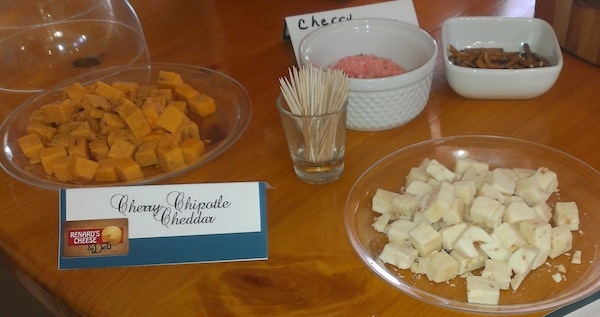 Cheese Samples at Renards Cheese in Door County