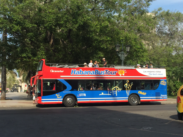 hop on bus in Havana