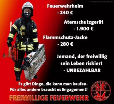 Die Feuerwehr als Unterstützer in der Not, braucht eure Hilfe