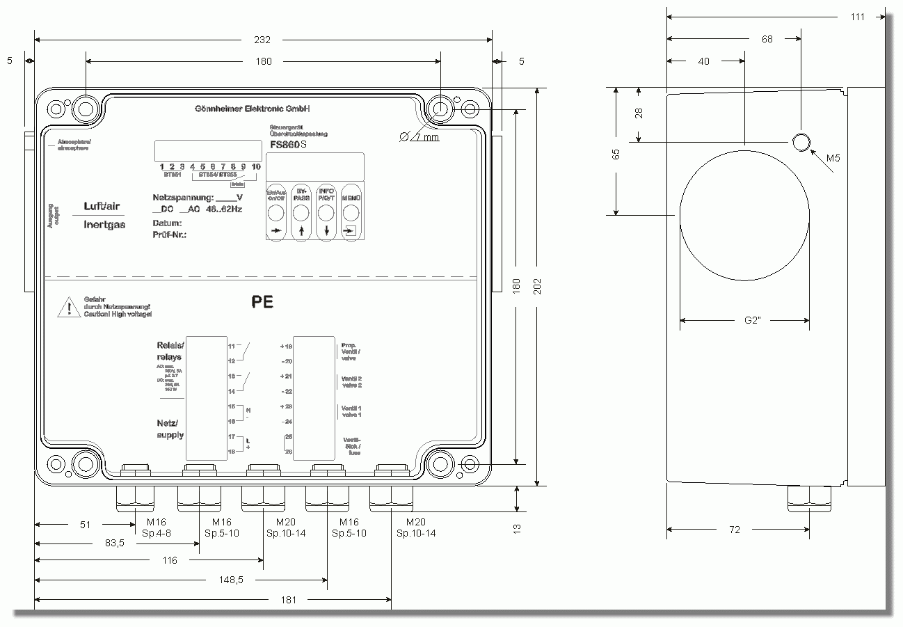 Dimensions Technical Drawings
