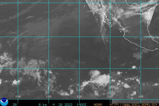 Pacific Tropical Infrared GOES West