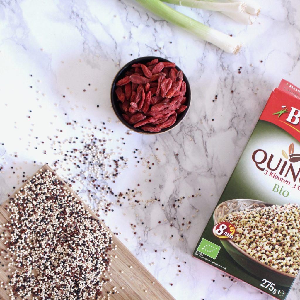 quinoa bosto gojibessen