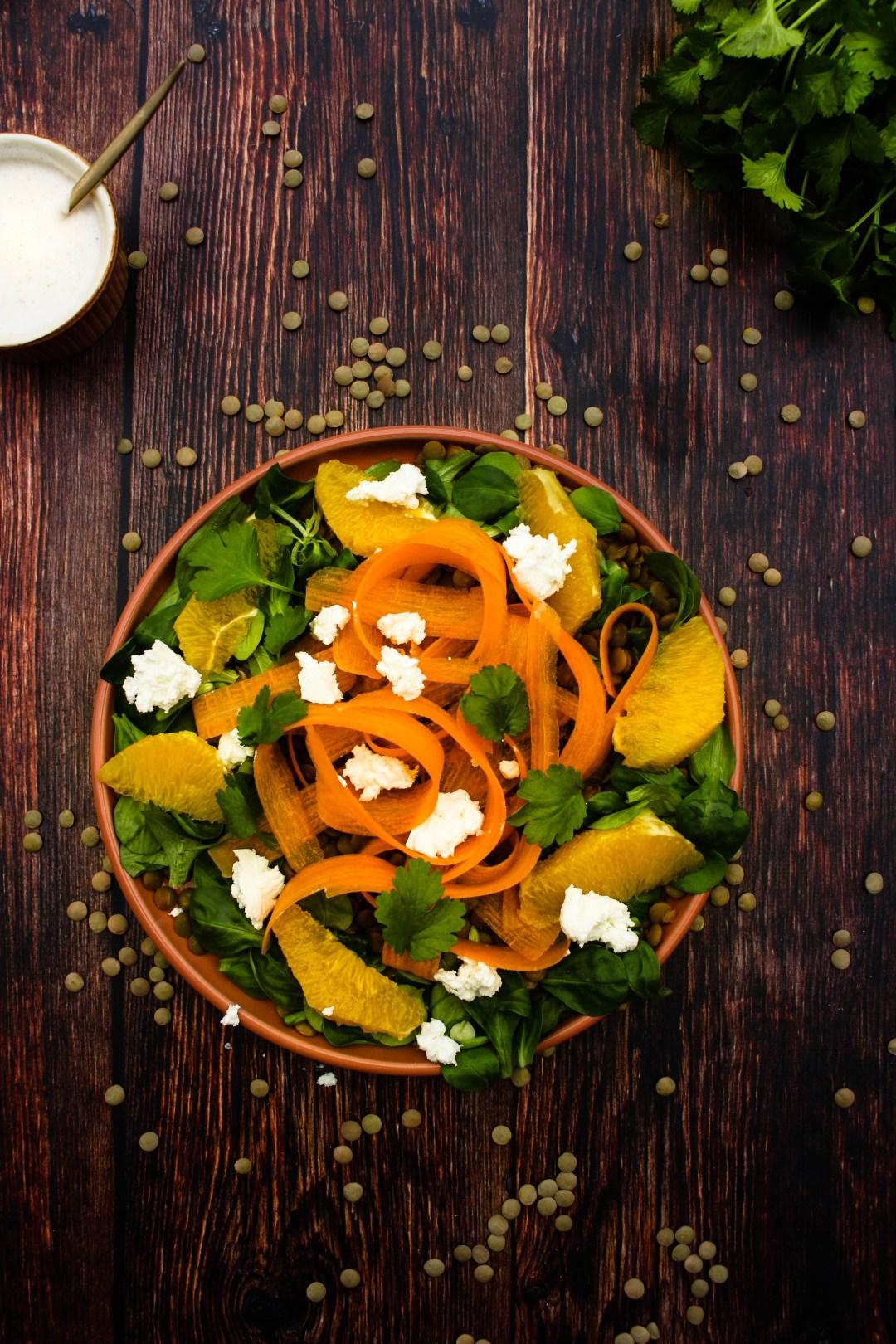 salade sinaasappel linzen wortel jozefien ryckx goestjes gezond glutenvrij
