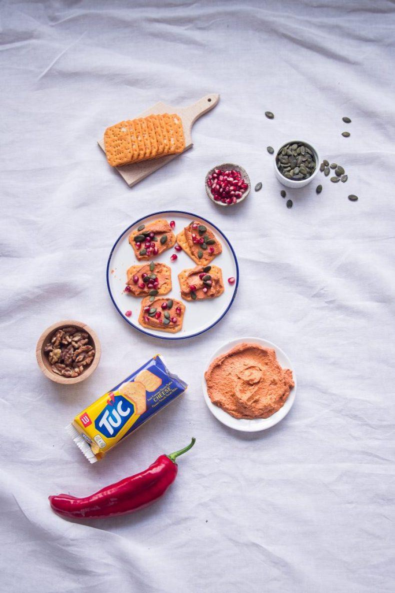muhammara walnoot paprika #topyourtuc tuc muhammara dip aperitief goestjes jozefien ryckx