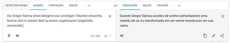 """A versão do Google Translate de """"A Metamorfose"""", de Franz Kafka"""