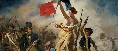 """Die Marianne als Nationalfigur der französischen Republik führt ihr Volk an: """"La Liberté guidant le peuple"""" vom französischen Maler Eugène Delacroix aus dem Jahr 1830 ist im Louvre zu besichtigen."""