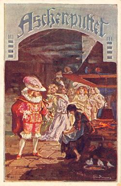 Das Goethezeitportal Mrchenmotive auf Postkarten Aschenbrdel  Aschenputtel