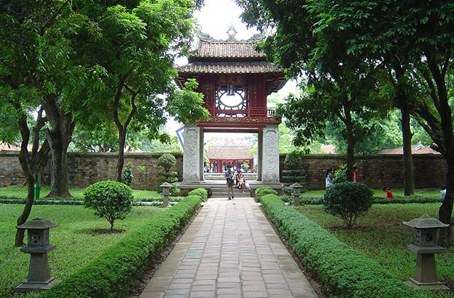 The Temple of Literature is a Temple of Confucius in Hanoi, northern Vietnam. The temple hosts the Imperial Academy, Vietnam's first national university. The temple was built in 1070 at the time of Emperor Lý Thánh Tông. (Hanoi Travel Guide - Go Explore Vietnam)