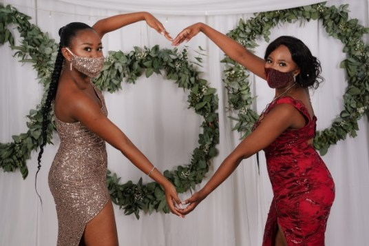 FROM THE HEART: From left, Anda Sikiti and Abongiwe Kentane