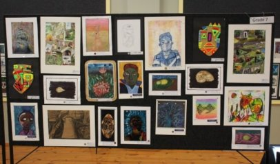 ON DISPLAY: A collection of artwork by various grade 7 pupils