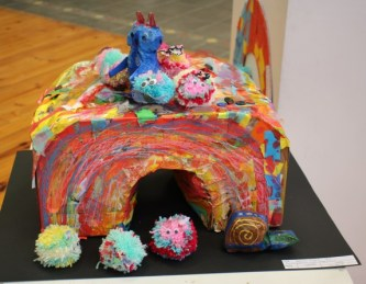 HOPPING AROUND: 'Our Funny Bunniez in their Happy Place', a group project by pupils from Arcadia School