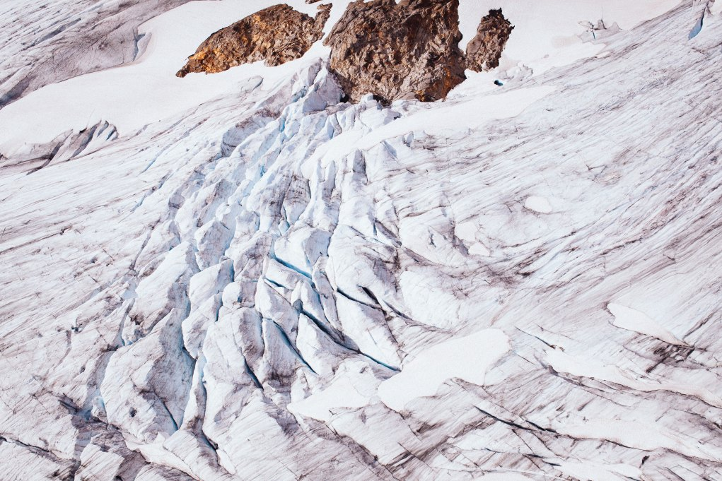 Crevasses from above
