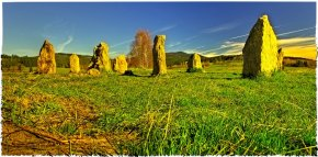 Standing stones by Volary