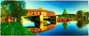 Wooden bridge by Lenora