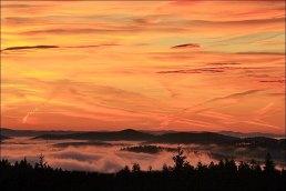Sunrise from Vitkuv Stone (looking eastwards)