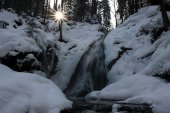 Winter waterfall Bila Strz by Hamry