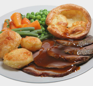 Go for an English  classic meals  the Sunday roast