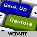 backup restore WEBSITE