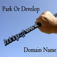 park or develop domain name