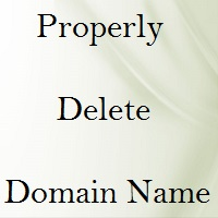 Properly Delete Domain Name Registration 4