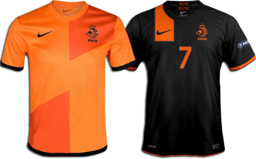 De Nederlands Elftal shirts voor het EK2012