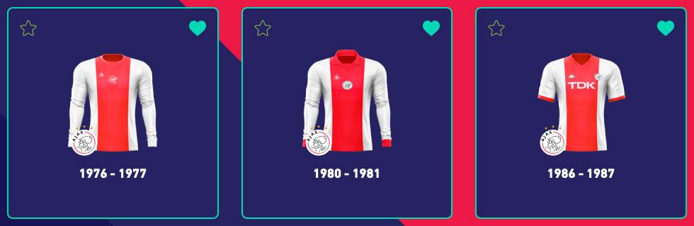Ajax thuisshirt jaren 70-80 Top3