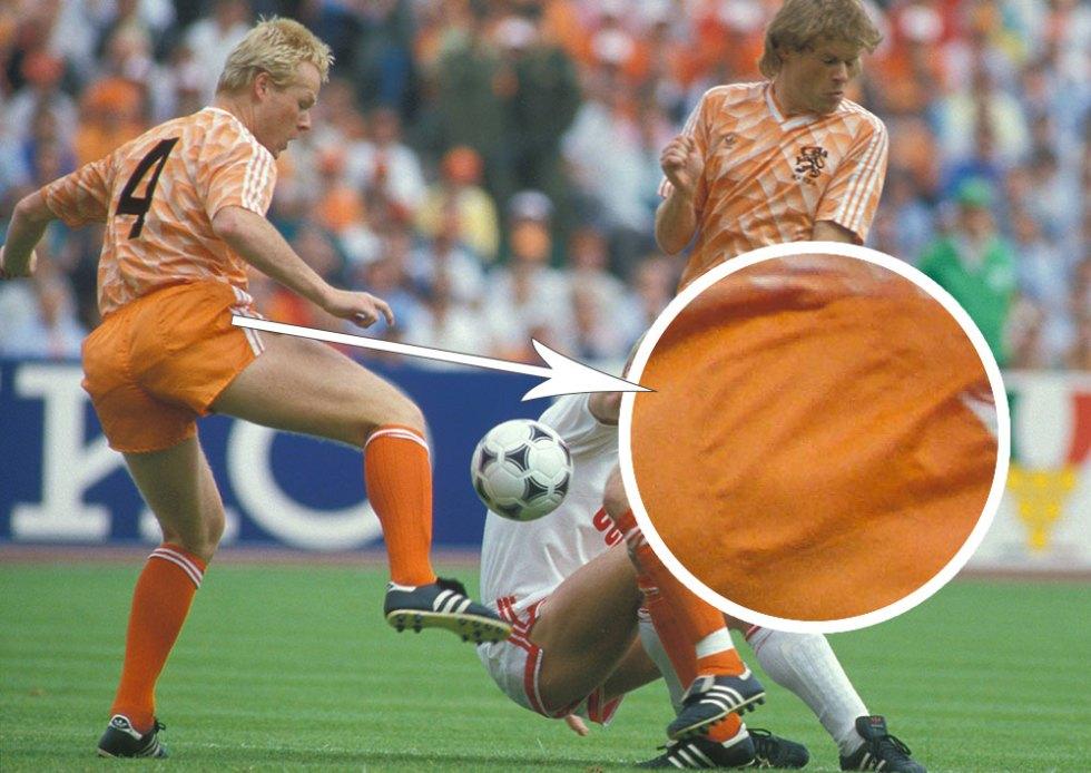 Voetbalbroekzakken bij Oranje in de finale EK 1988
