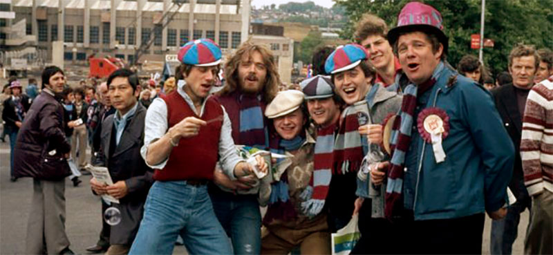West Ham fans in front of Wembley 1975