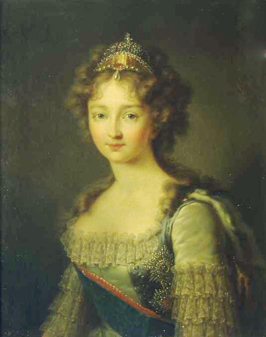 1790s Elizabeth Alexeievna by Gerhard von Kügelgen (location unknown to gogm) Wm