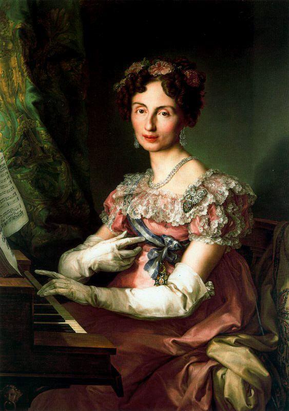 1825 Infanta María Amalia Federica Augusta de Sajonia by Vicente López y Portaña (Colección Real, Madrid)