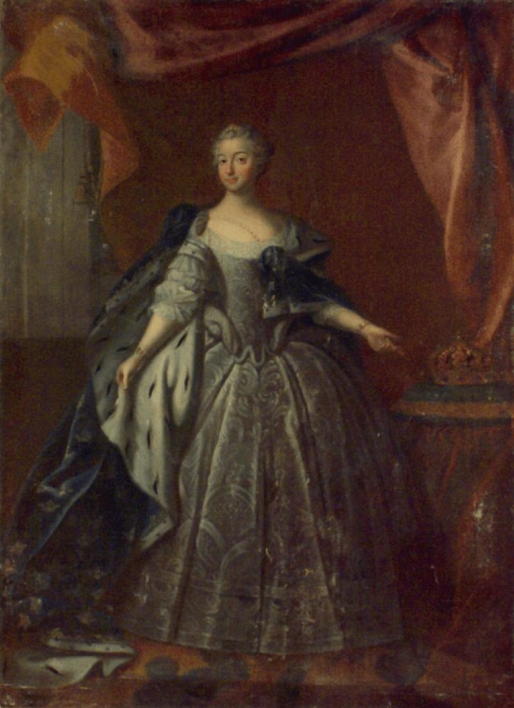 Queen Lovisa Ulrika of Sweden by George Engelhardt Schroeder Royal Armoury Skokloster Castle