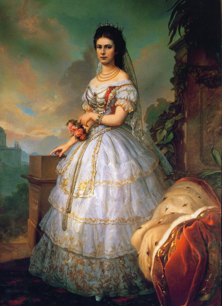 Empress Sisi in a traditional Hungarian gown by  location unknown to gogm  Grand Ladies  gogm