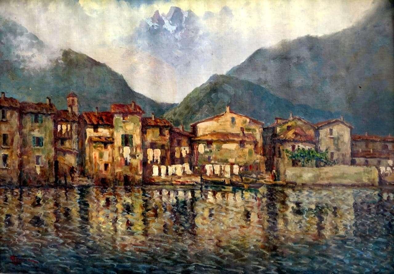 Dipinto olio su tela autore Ghione Vincenzo Gognabrosit