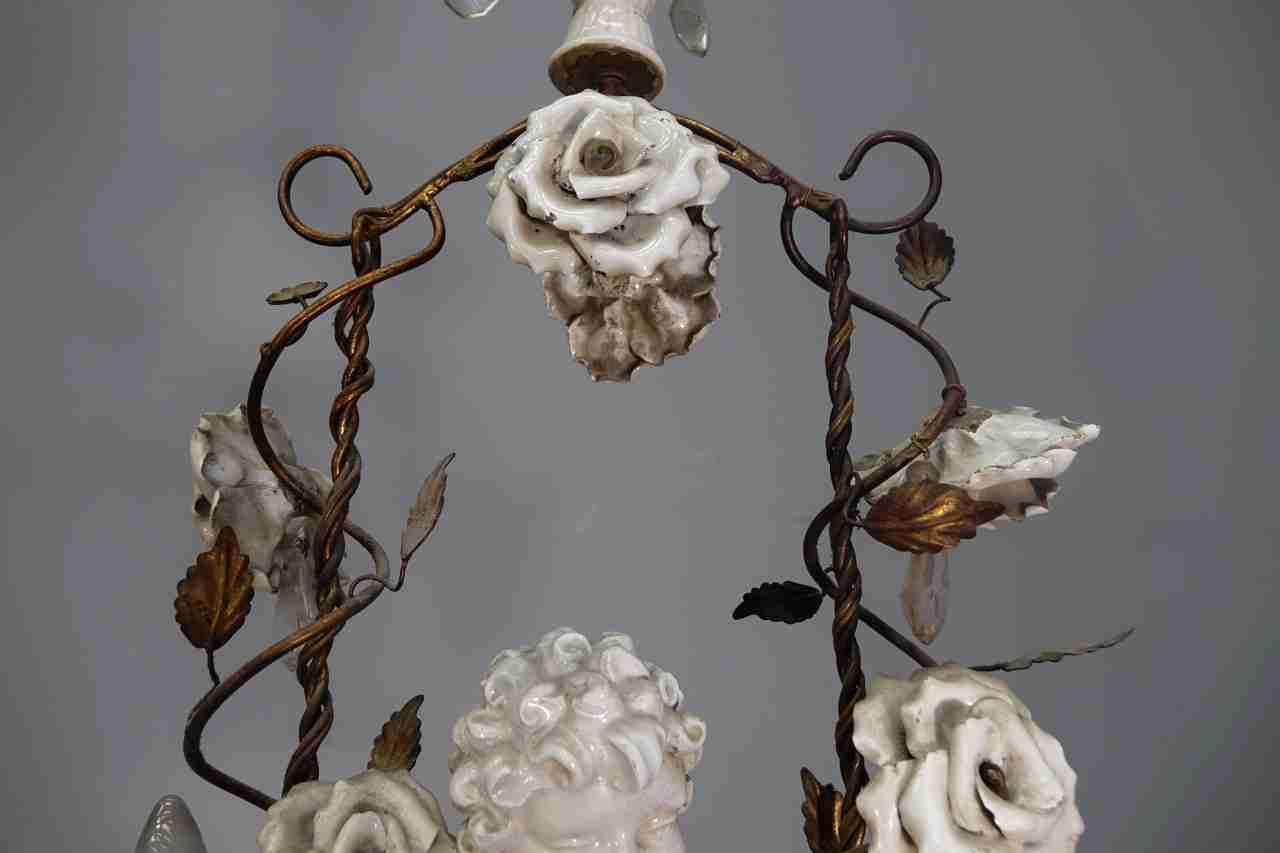 Trova una vasta selezione di lampadari da soffitto in ceramica a prezzi vantaggiosi su ebay. Lampadario Con Putto In Ceramica Sull Altalena Gabriele Gogna