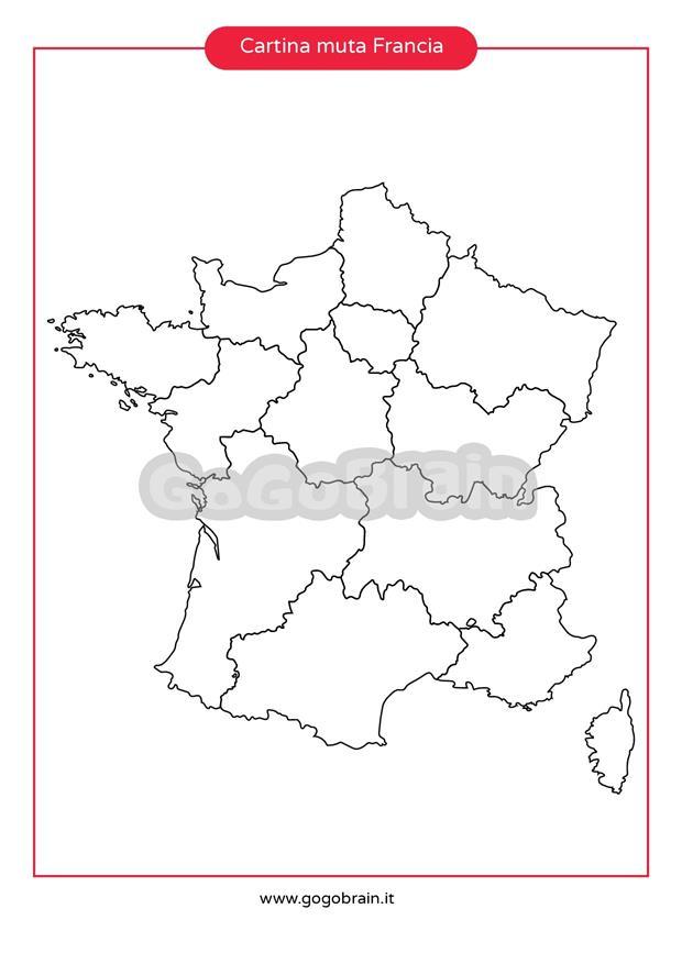 Cartina Muta Della Francia.Carta Muta Della Francia Gogobrain