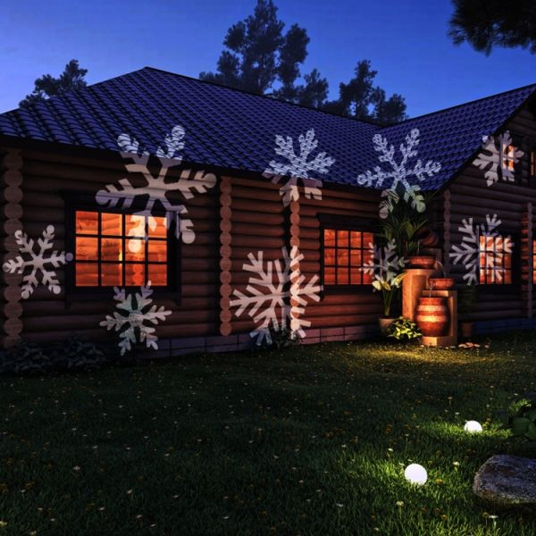 Outdoor Festtags-Projektor mit 12 Themen Weihnachten Halloween