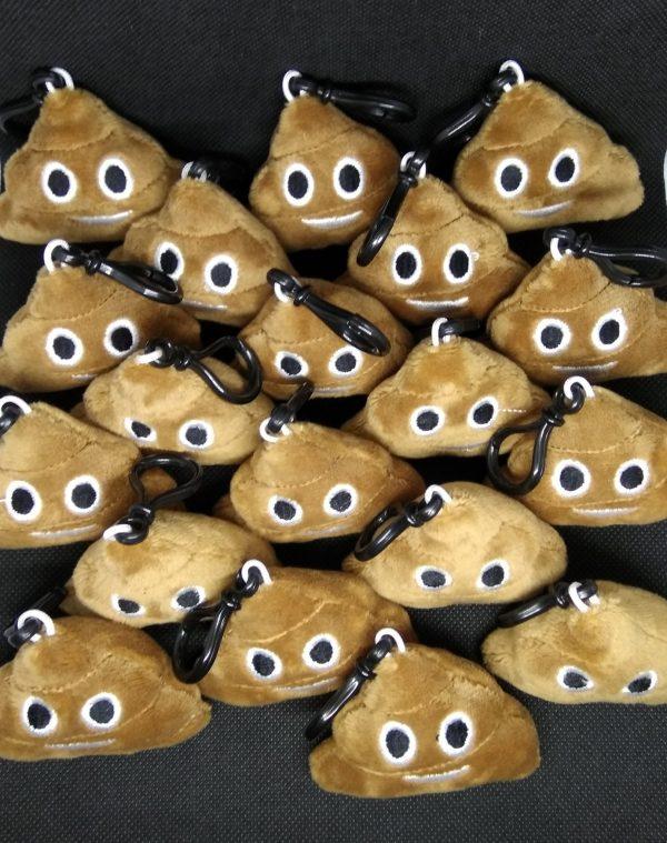 Kackhaufen Emoji Schlüsselanhänger Plüsch-weich
