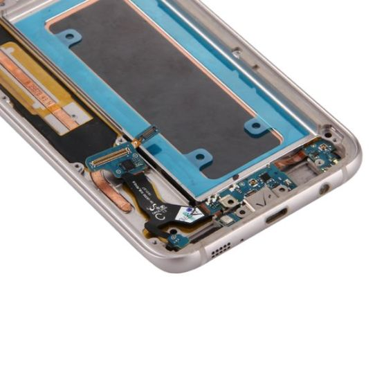LCD Display für Samsung Galaxy S7 EdgeG935F + Ladeport + Power- Volumebutton