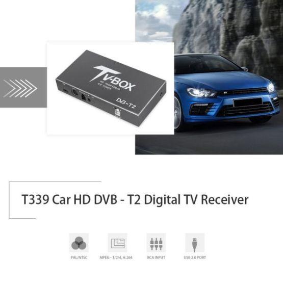 Car HD 4 x Tuner DVB-T2 Digital TV Receiver 160KM/h