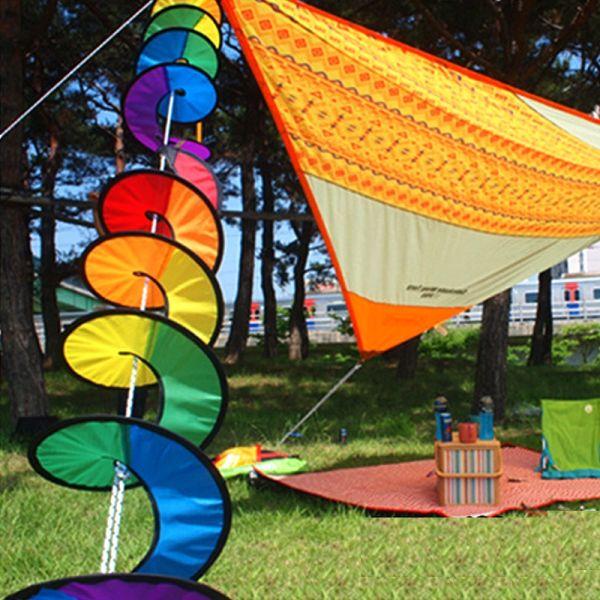 Regenbogen Spinner Sommer Deko 110 x 22cm