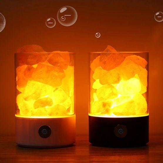 HIMALAYA Kristallsalzlampe USB Ladegerät