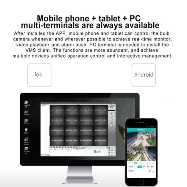 720P HD WiFi IP Cam, Bewegungserkennung Nachtsicht SD-Kartenslot