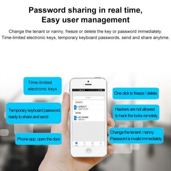 Smartes Türschloss Smart Door Lock Code und App