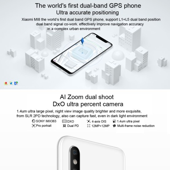 Xiaomi Mi 8 6GB+64GB Global Official Version