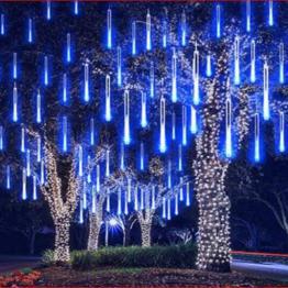 LED Lichter Regen 30m 144 LED (4 Stck.)